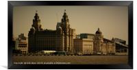 Liverpool Waterfront Skyline, Framed Print