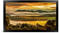 Sunset over Arran and The Cumbraes, Framed Print