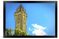 National Wallace Monument Stirling, Framed Print