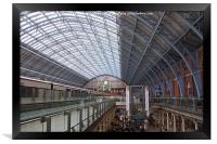St Pancras International Station, Framed Print