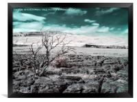 Ribblehead Viaduct infrared, Framed Print