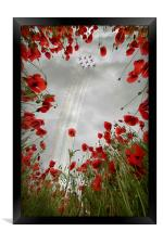 Red 9 , Framed Print