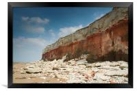 Hunstanton Cliffs, Norfolk, Framed Print