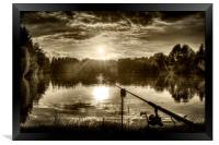 Perfect end to the day, Framed Print