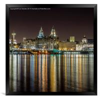 The Three Graces at night, Framed Print