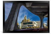 Liver building from the Mersey Ferry, Framed Print