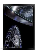 Liverpool Wheel and Arena, Framed Print
