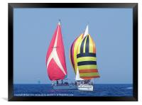 Spinnakers at close quarters, Framed Print