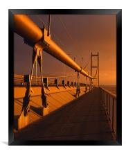 Humber Bridge Sunset, Framed Print