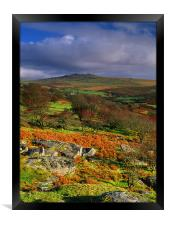 Great Mis Tor from Vixen Tor, Framed Print
