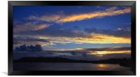 Sunset over Plymouth Sound, Framed Print