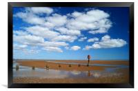 Cleethorpes Beach at Low Tide, Framed Print
