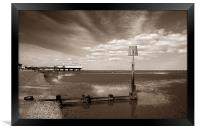 Cleethorpes Pier & Beach at Low Tide, Framed Print