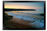 Sunset over Swanage Bay, Dorset, Framed Print