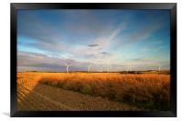Wind Turbines in South Yorkshire, Framed Print
