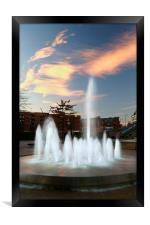 Water Feature in Sheffield Rail Station, Framed Print