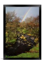 Rainbow over Burbage Brook, Framed Print