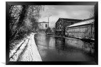 Sheffield Canal Frozen, Framed Print
