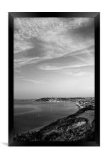 Swanage View in Mono, Framed Print