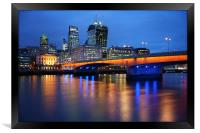 London Bridge Reflections, Framed Print