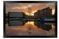 Victoria Quays Sunset, Sheffield, Framed Print