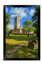 St John The Baptist Church,Wadworth, Framed Print