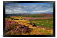 View From Burbage Rocks , Framed Print