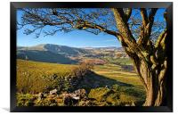 Mam Tor from above Cave Dale, Framed Print