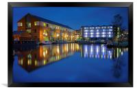 Victoria Quays at Night, Framed Print