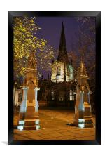 Sheffield Cathedral at Night , Framed Print