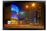 Moor Street Sub Station and Velocity Tower , Framed Print