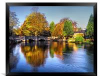 Sheepwash Bridge and The River Wye , Framed Print