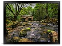 Shaugh Bridge and River Plym , Framed Print