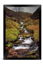 Looking up Blackden Clough , Framed Print