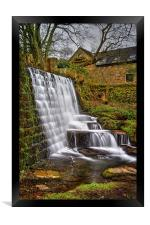Lumsdale Falls and Dam , Framed Print