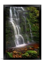 Middle Black Clough Waterfall, Framed Print