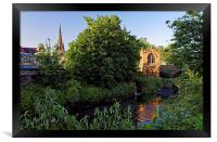 Chapel on the Bridge and Rotherham Minster , Framed Print