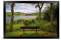 Ulley Bench with a View , Framed Print