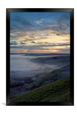 Hope Valley Inversion and Sunrise , Framed Print