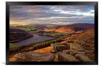 Golden Views of Ladybower , Framed Print