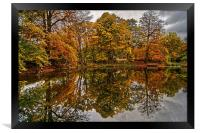 Lumsdale Autumn Reflections , Framed Print