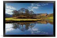 River Brathay Reflections                         , Framed Print