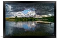 Storm Clouds over Ulley                 , Framed Print