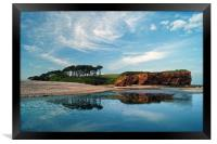 Coastline at Budleigh Salterton                   , Framed Print