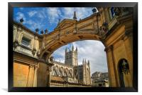 Bath Abbey and Arch                    , Framed Print