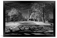Cholera Monument, Infra Red                       , Framed Print