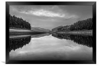 Howden Reservoir in Mono, Framed Print