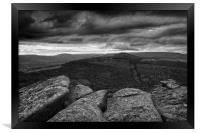 Win Hill under Stormy Skies                       , Framed Print
