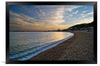 Lyme Regis Sunset                      , Framed Print