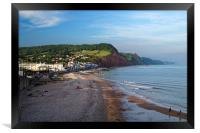 Sidmouth Seafront and Beach                     , Framed Print
